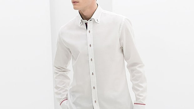 Zara Ribbon-Detailed Shirt
