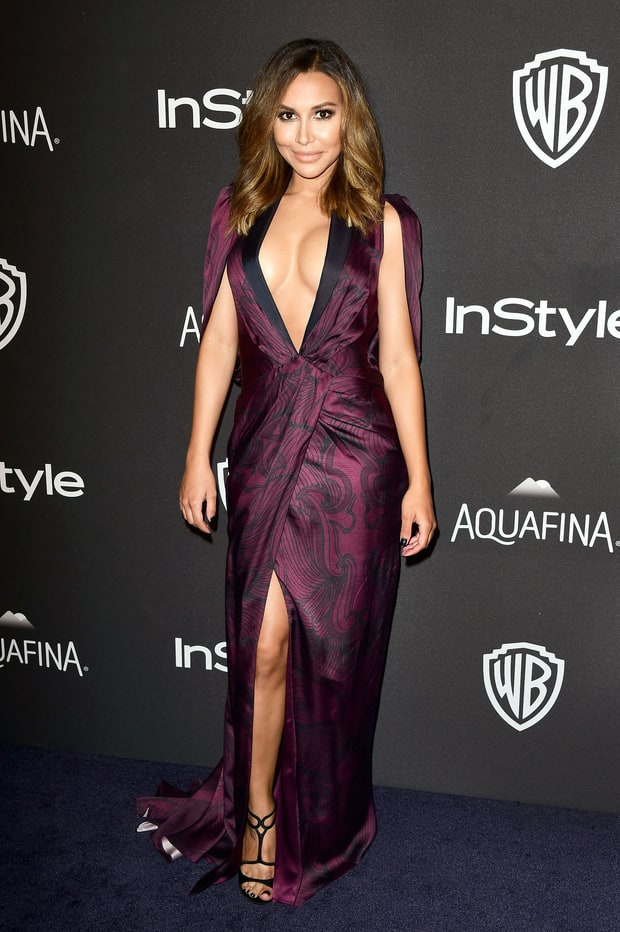 Naya rivera golden globes 2016 afterparties fashion what the stars