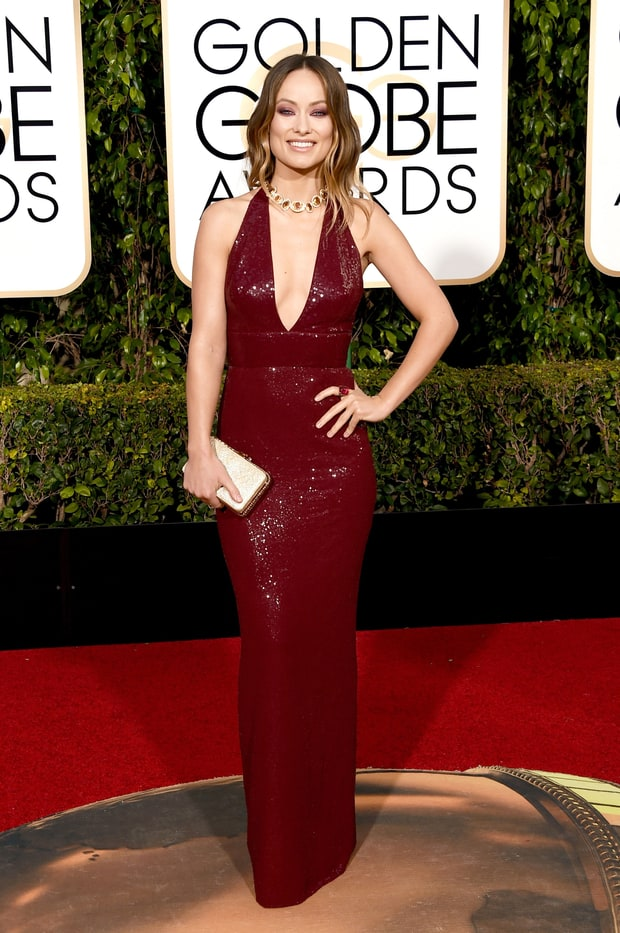 Olivia Wilde golden globes dress