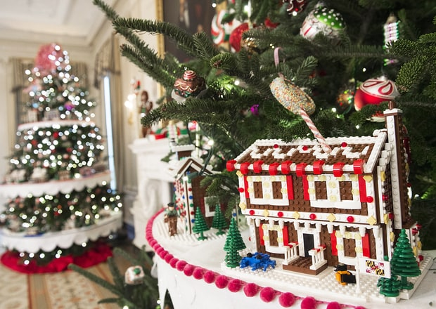 the white house is decorated with 63 trees gingerbread houses and more for the obamas last christmas at 1600 pennsylvania avenue see the photos