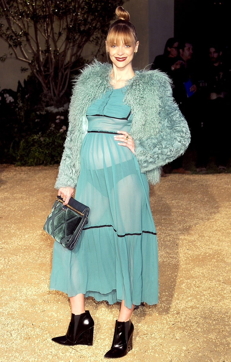 Pregnant Jaime King Wears Completely Sheer Dress: Would ...