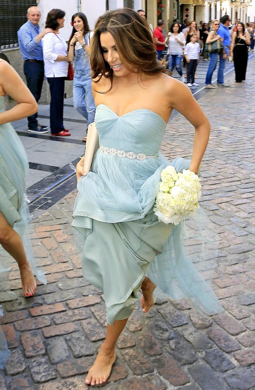 Eva Longoria S Seafoam Green Bridesmaid Dress Shop It