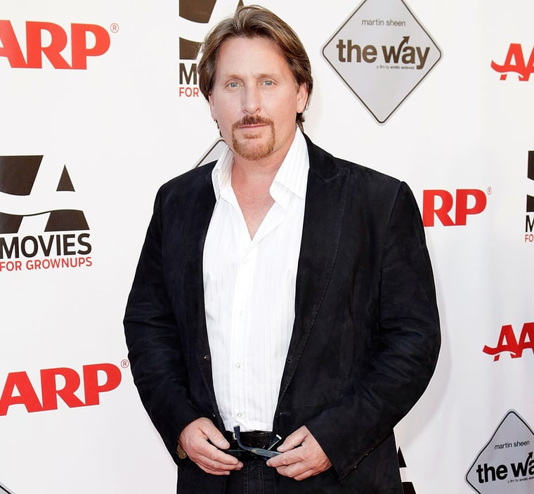 Emilio estevez threw back to his mighty ducks days as he supported the
