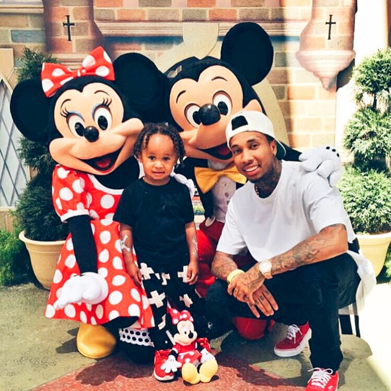 Tyga Brings King To Disneyland For North West's 2nd