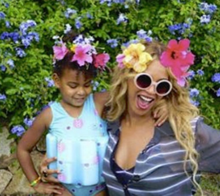 beyonce shares home video of blue ivy jay z and herself