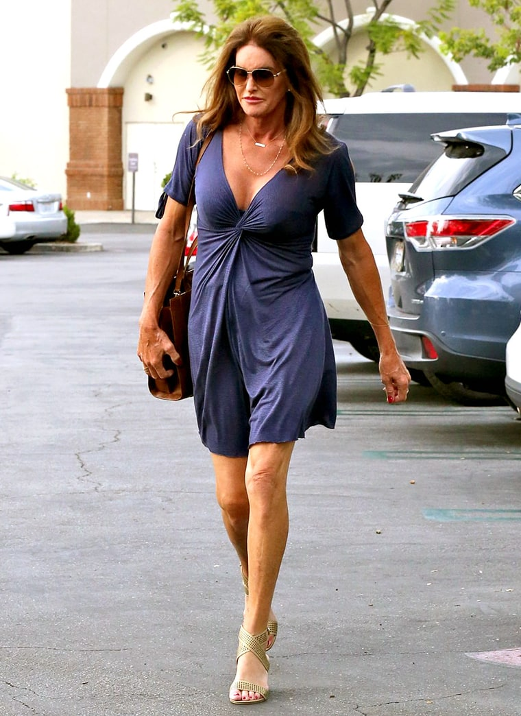 Caitlyn Jenner Works Her Cleavage in Plunging Blue Dress: Style Photos ...