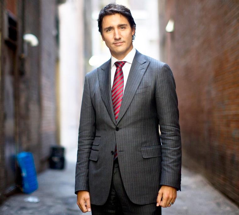 Justin Trudeau Prime Minister Of Canada Poses For A: Canada's New Prime Minister Justin Trudeau Is Super Hot