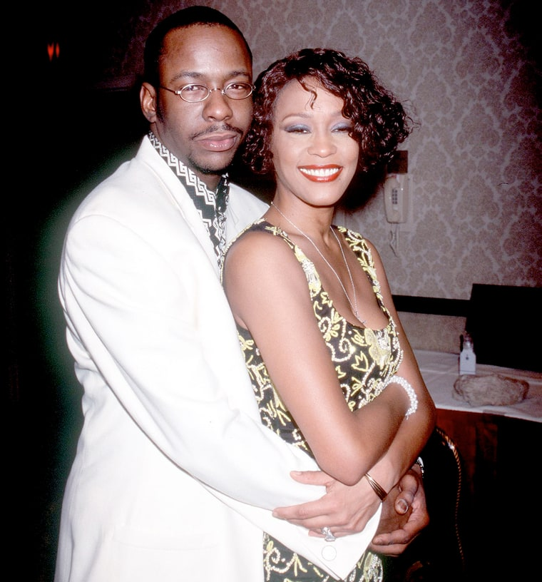 Whitney Houston with Bobby Brown at Whitney Houston\u0027s All,Star Holiday Gala  in New York City on December 4, 1999. Robin Platzer/Twin Images/Online USA,