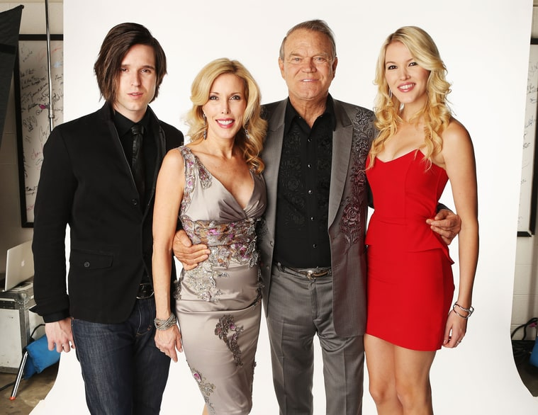 Cal, Kim, Glen and Ashley Campbell attend the 2012 CMT Music Awards. Credit: Christopher Polk/Getty Images