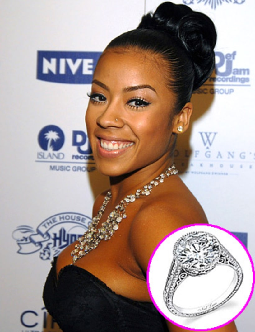 Keyshia Cole  Stars' Blingy Engagement Rings  Us Weekly. Yachtmaster Watches. Easy Diy Earrings. January Birthstone Bracelet. Halloween Engagement Rings. Bow Bracelet. Wedding Day Necklace. Kyanite Pendant. Feather Rings