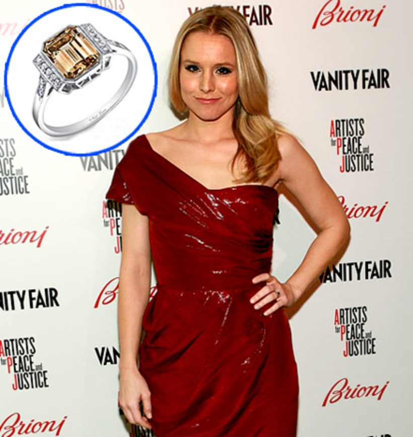 kristen bell wedding ring: Stars' Blingy Engagement Rings