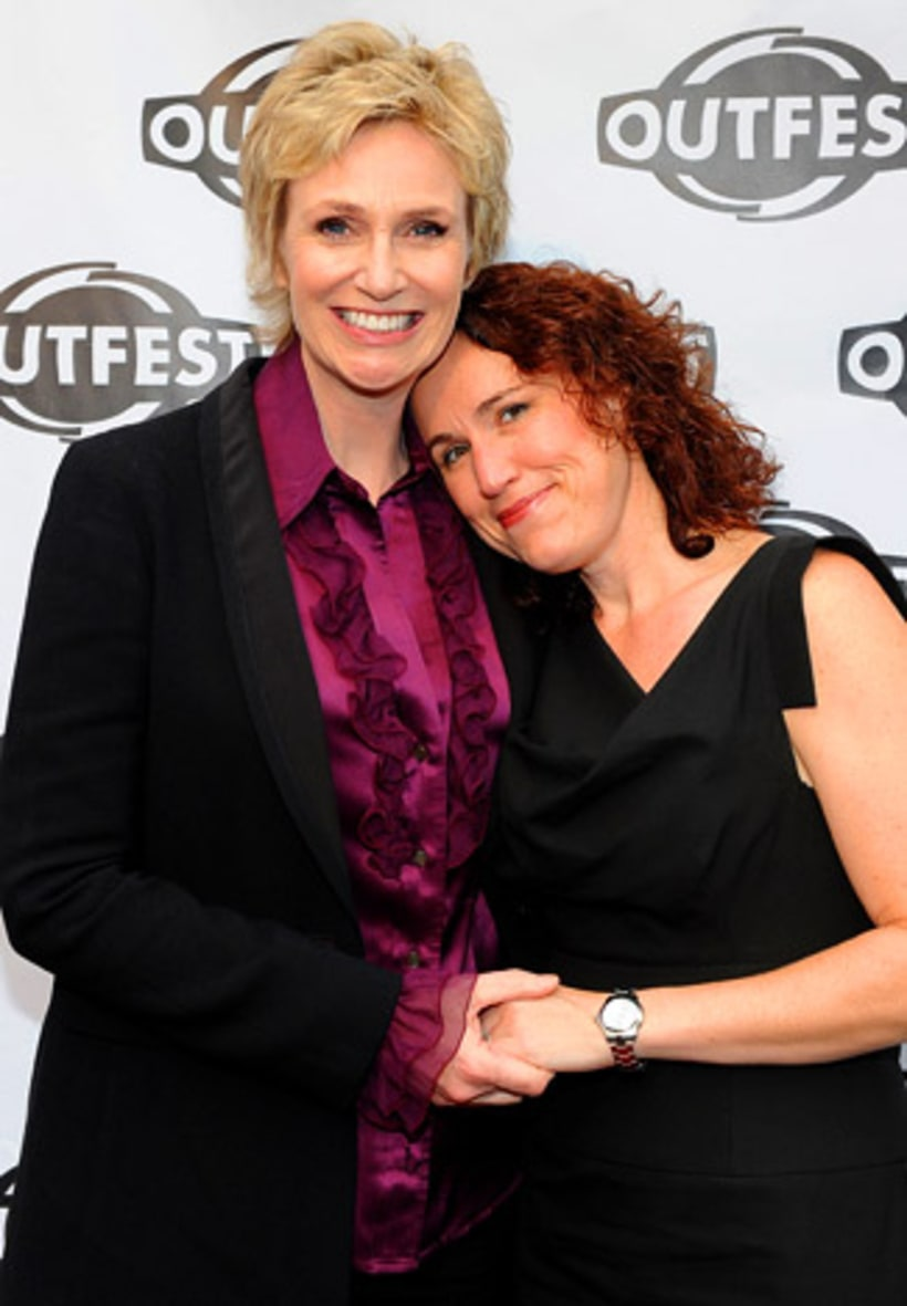 Jane Lynch and Dr. Lara Embry   Weddings of the Year