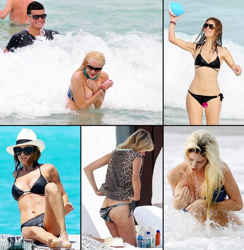 in bikini shots of women Peep