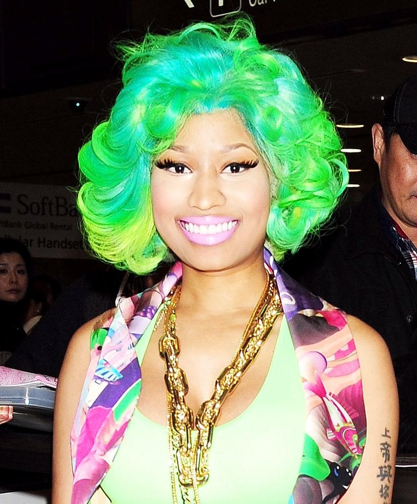 nicki minaj celebrities with rainbow colored hair us