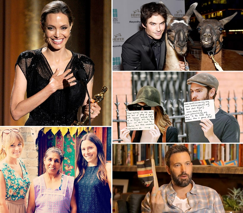 Celebrity Charity Work: Data, News, Events - Look to the Stars
