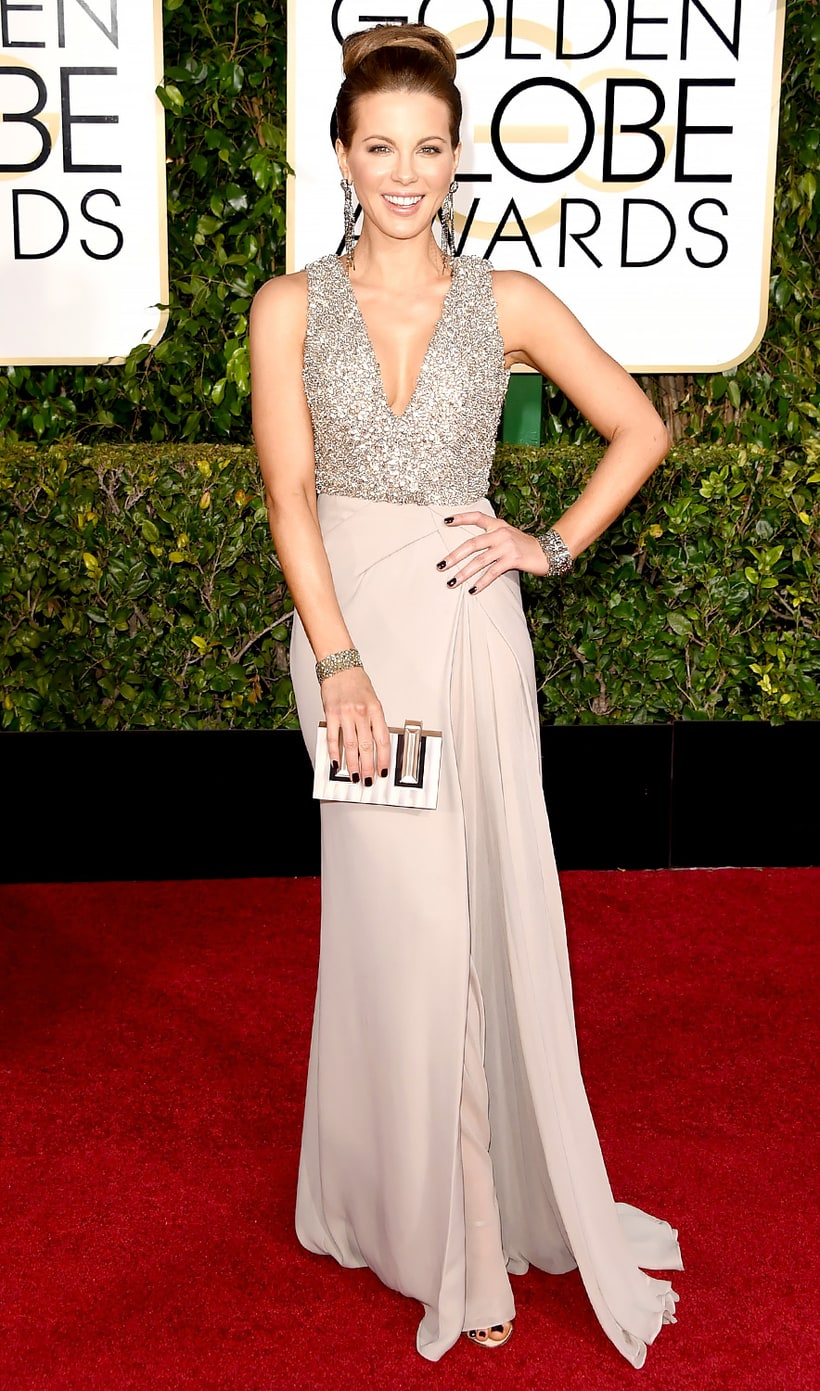 Kate beckinsale golden globes 2015 red carpet fashion what the stars wore us weekly - Golden globes red carpet ...