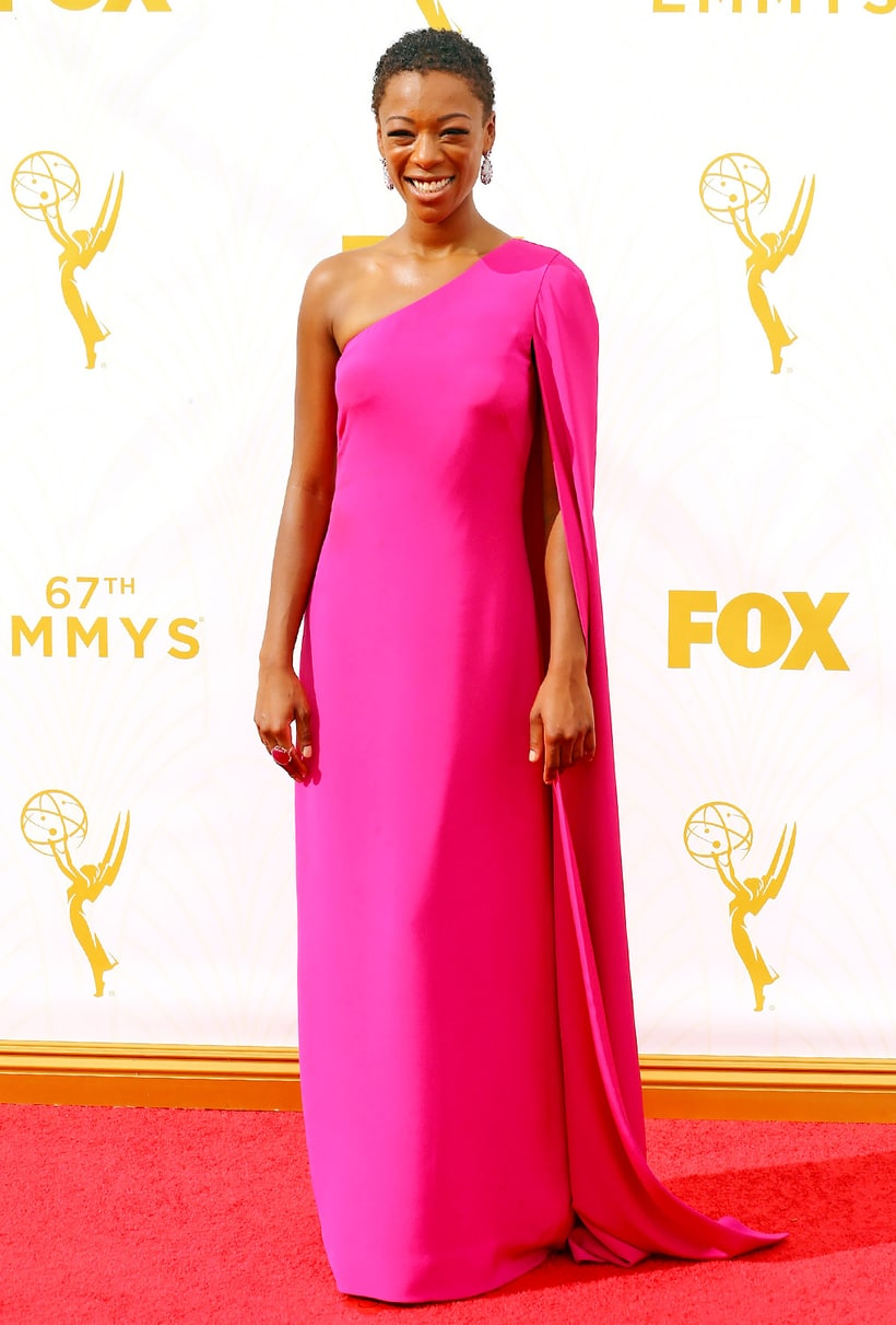Samira Wiley Emmys 2015 Red Carpet Fashion What The