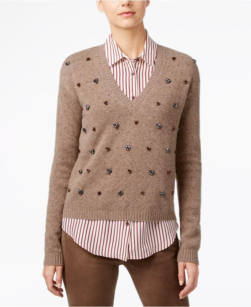 Macy S Furniture Sales This Weekend: Weekend Max Mara Embellished Wool Sweater