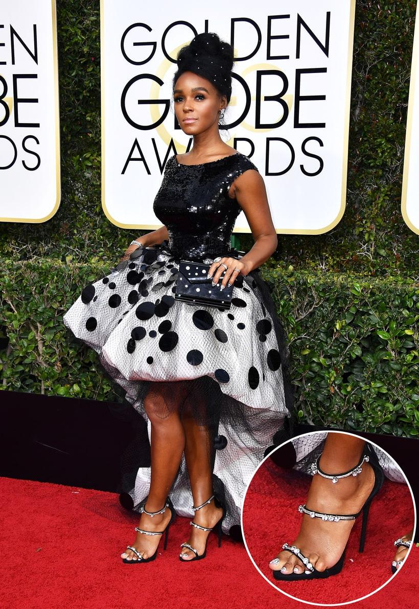 Janelle Monae Golden Globes 2017 Red Carpet Fashion