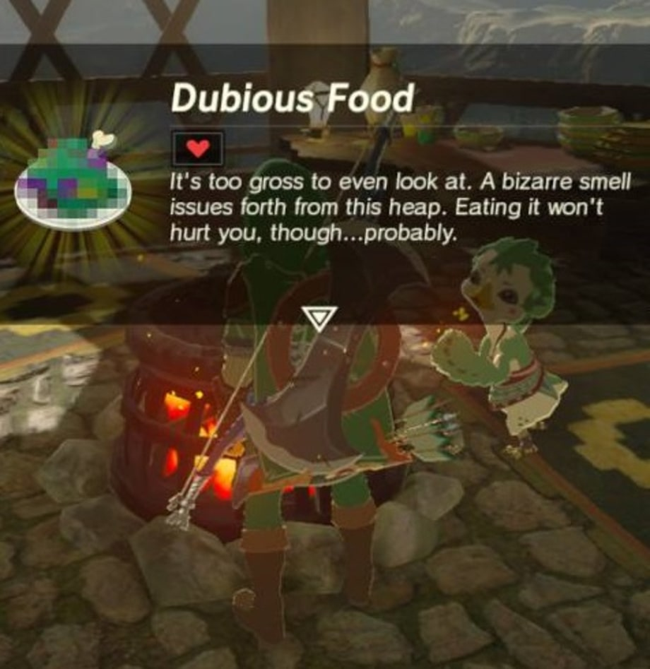 Dubious food 39 the legend of zelda breath of the wild for Cuisine zelda