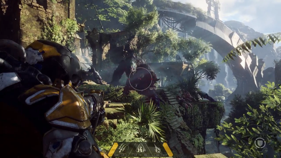 Enemies come in the form of both monsters and robots – this ogre-like creature is huge, and in the gameplay demo the player chooses not to engage with it