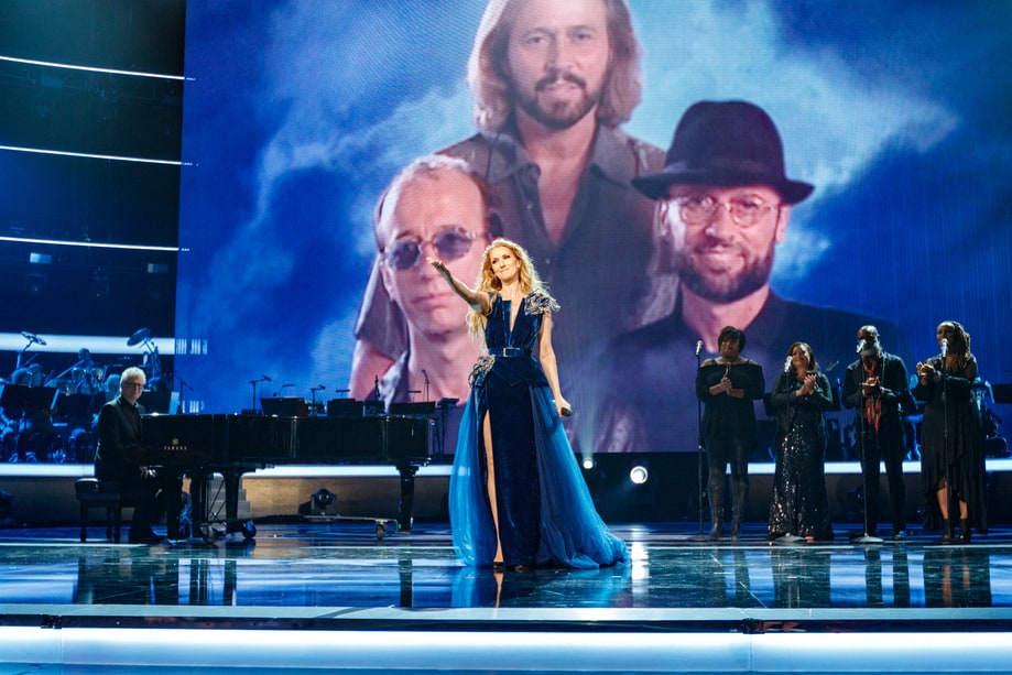 Celine Dion Stayin Alive A Grammy Salute To The Music