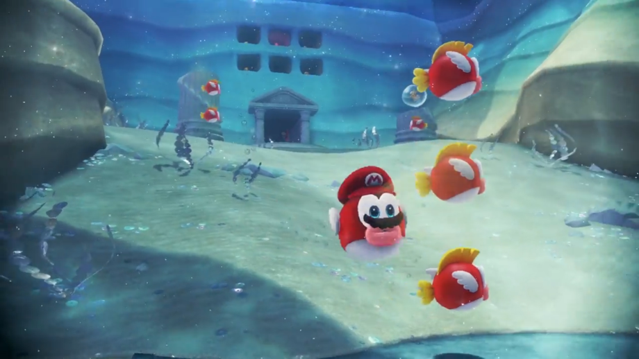 Becoming a Cheep Cheep allows you to swim underwater