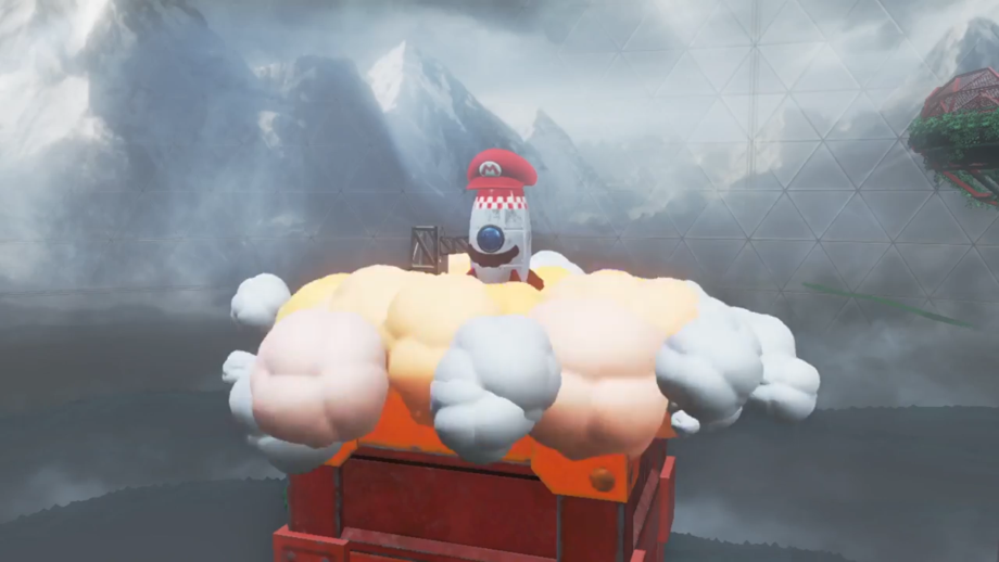 Cappy allows Mario to turn into non-living things too. Like a rocket