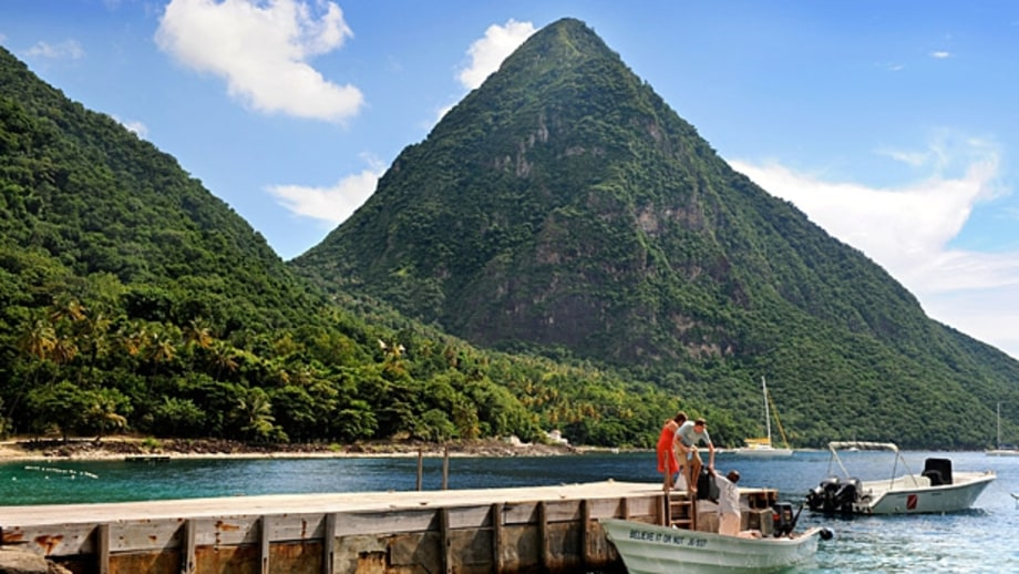 Climb from sea to sky (St. Lucia)