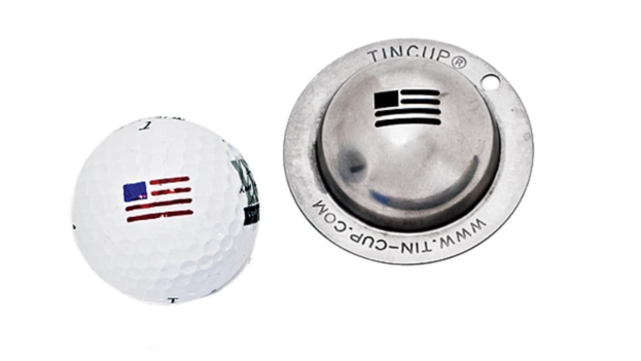 Tin Cup Golf Ball Stencil