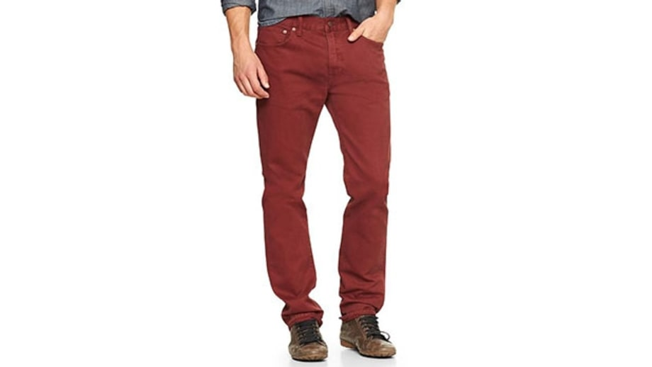 Gap 1969 Slim in Red