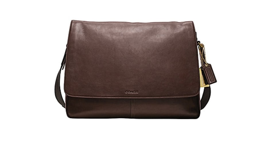 Coach Bleecker Legacy Leather Courier Bag