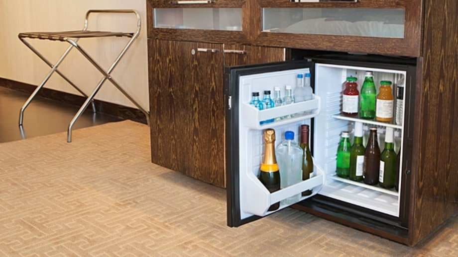 Get a room with a refrigerator (or have one put in there).