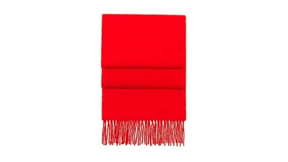 Hunter Gather Lambswool Scarf in Red