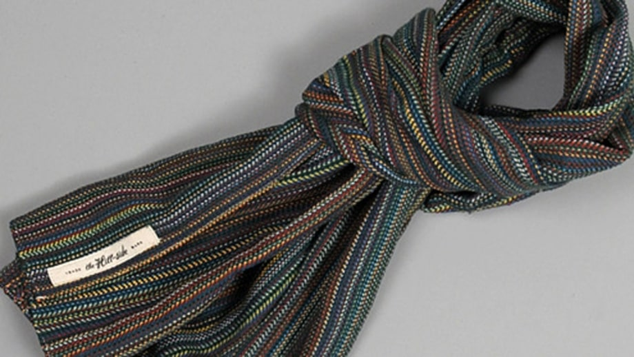 The Hill-Side Old Virginia Herringbone Striped Scarf