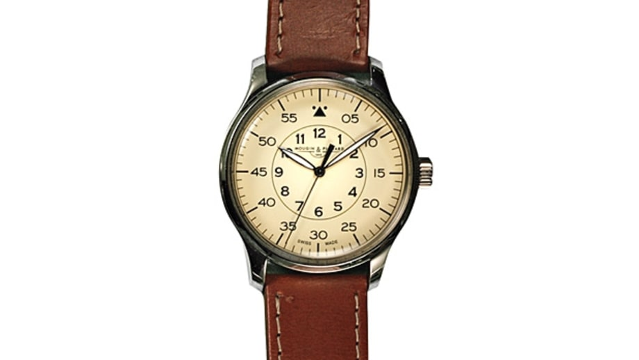 Mougin & Piquard for J. Crew Grande Seconde Watch in Cream