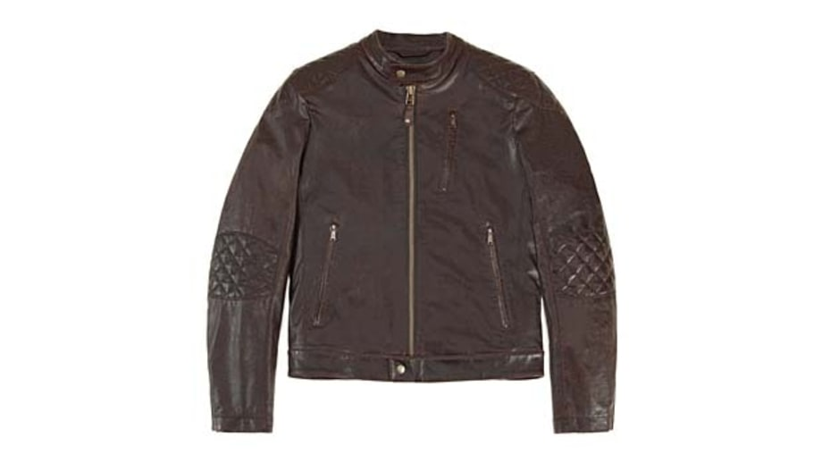 Check out: Onassis's Leather Motorcycle Jacket.
