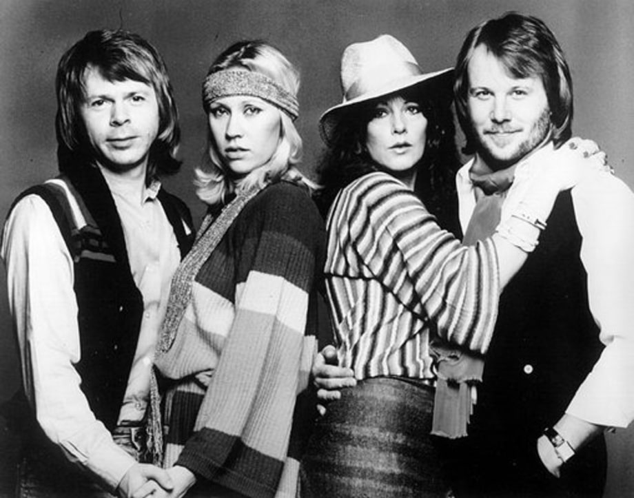 ABBA: 1970: Black and white couples shot