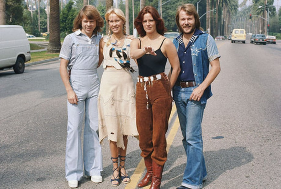 ABBA: 1970: Group shot in the street
