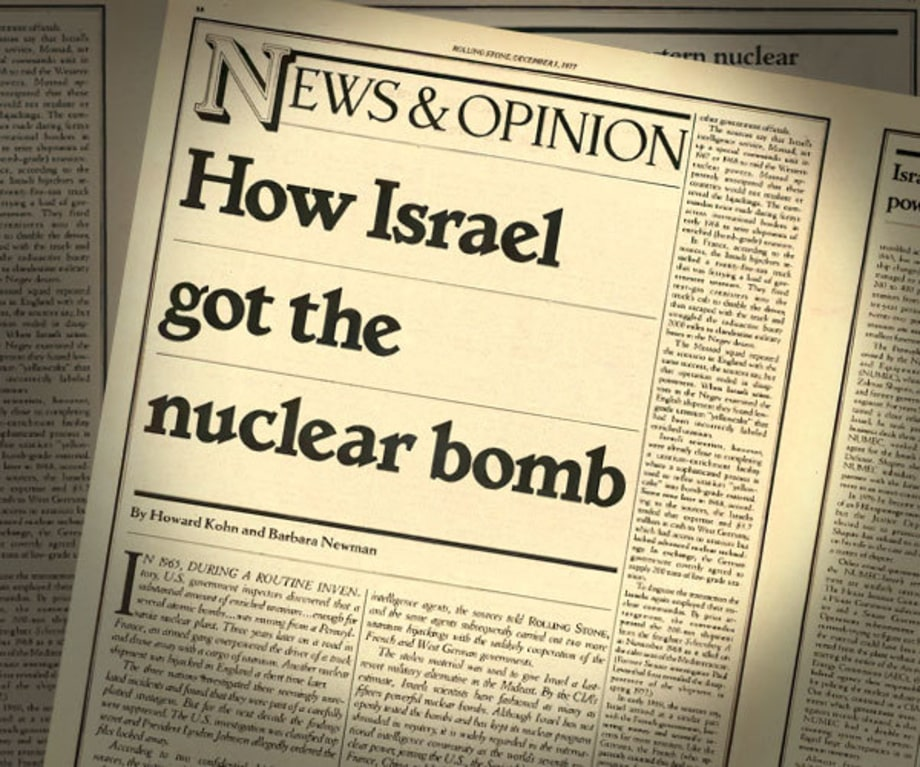 Israel Builds 15 Nuclear Bombs