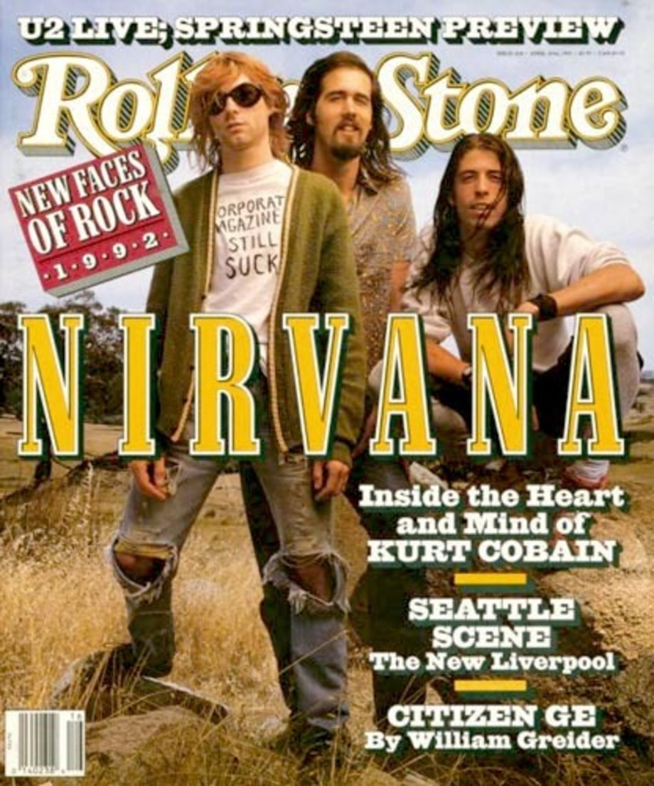 Billedresultat for nirvana rolling stone cover