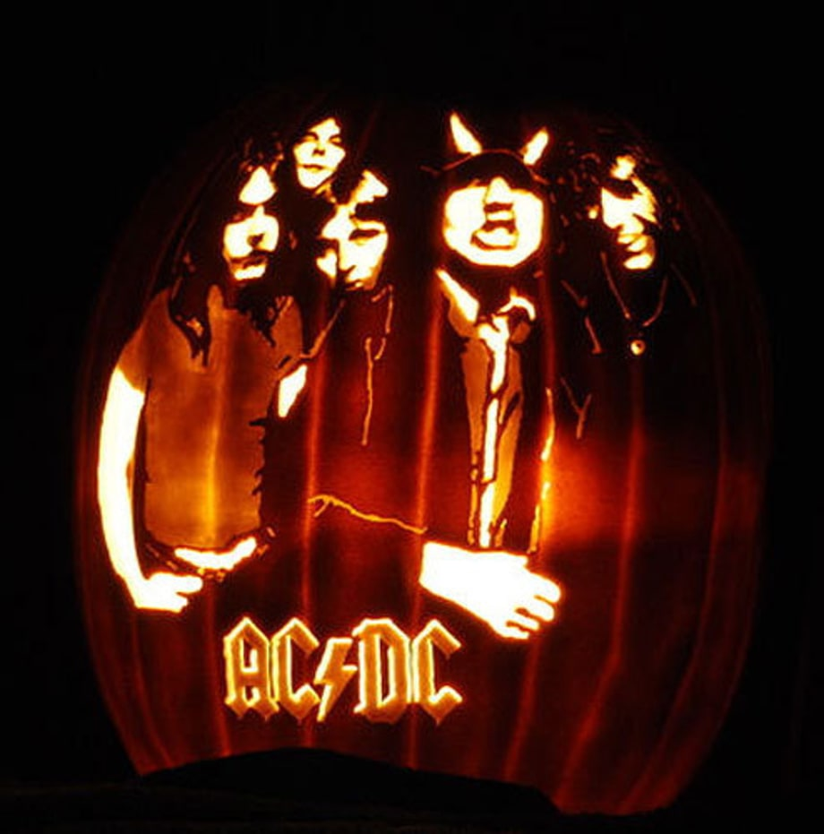 Ac dc photos pumpkins carved to look like rock stars