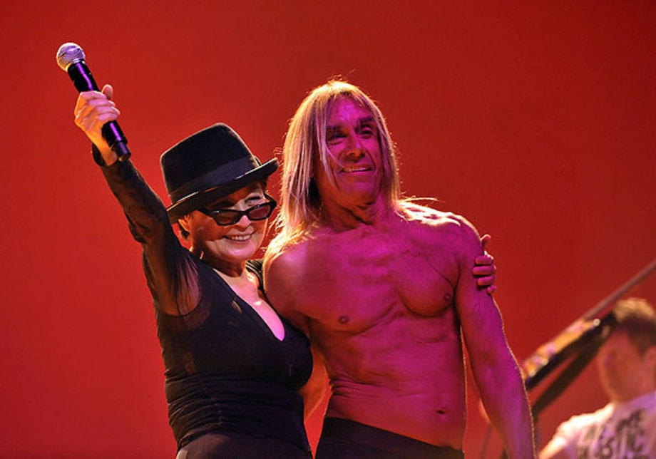 Yoko Ono and Iggy Pop