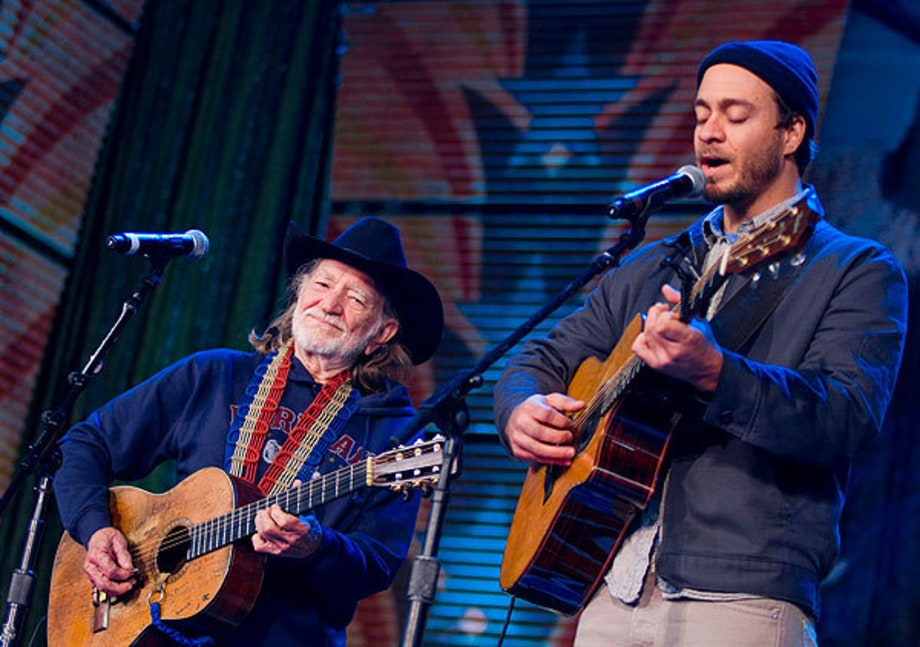 Willie Nelson and Amos Lee