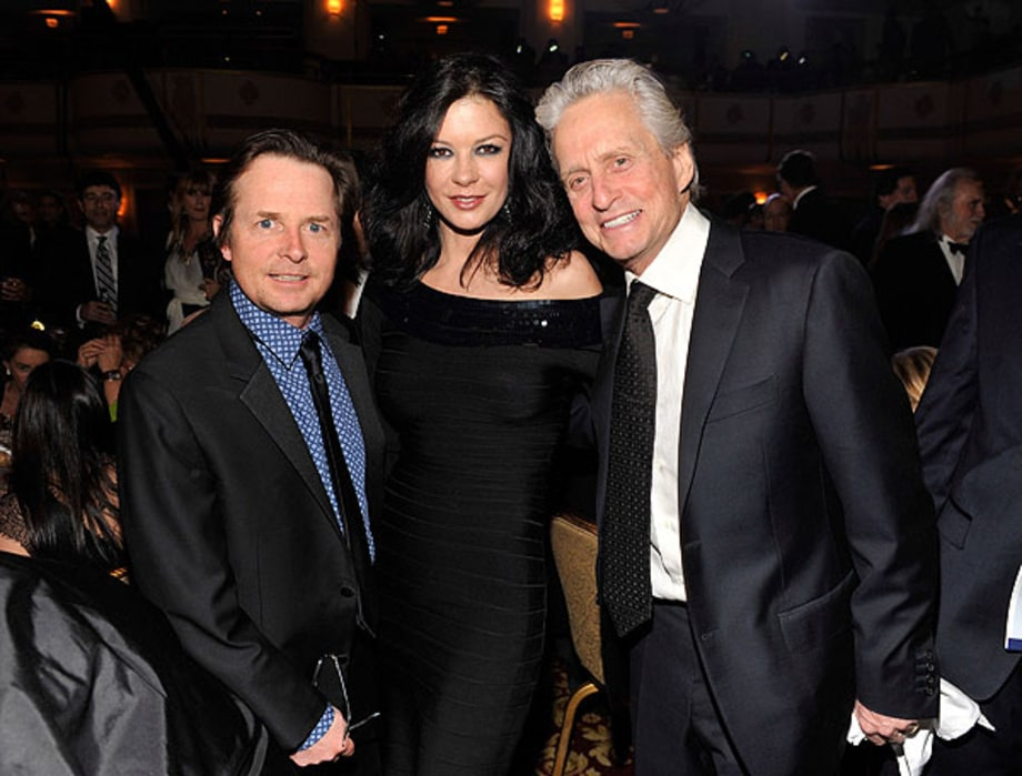 Michael J. Fox, Catherine Zeta-Jones and Michael Douglas