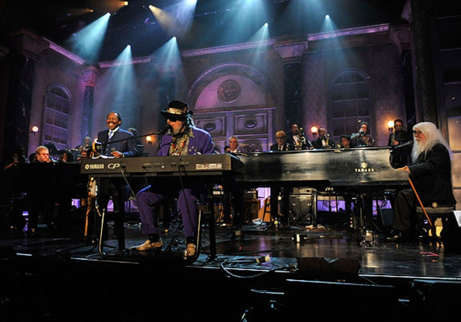 Elton John, Lloyd Price, Dr. John and Leon Russell