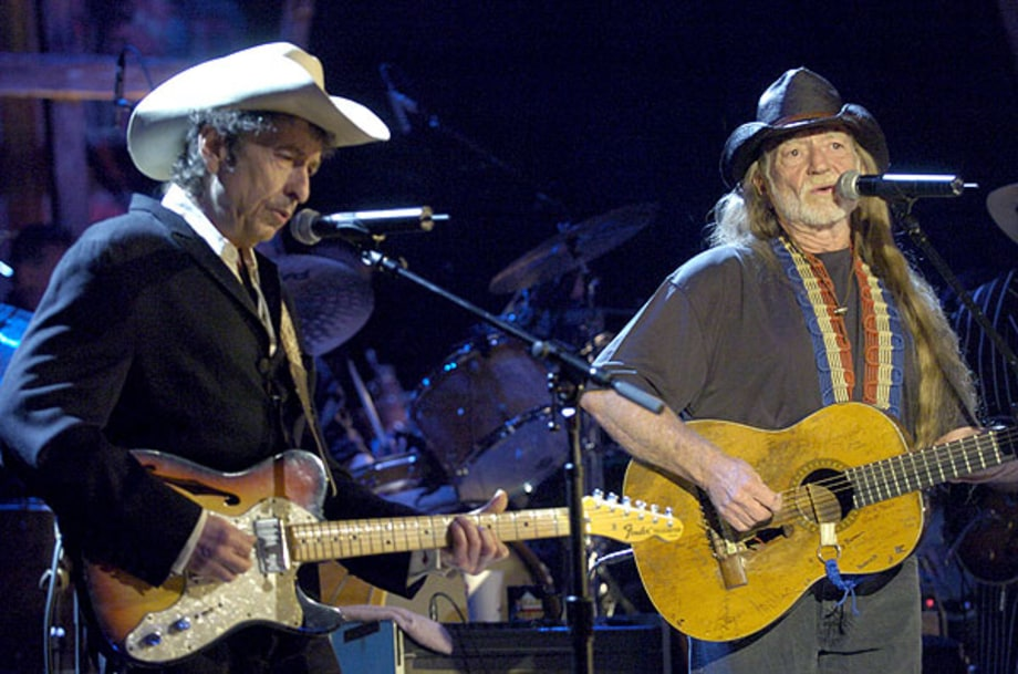 Bob Dylan and Willie Nelson 2004