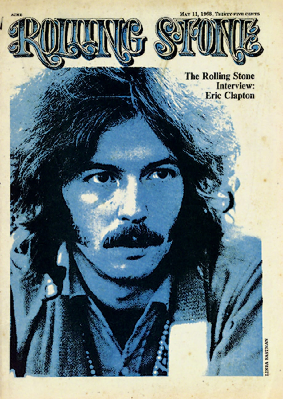 eric clapton 1968 first time on the cover rolling stone