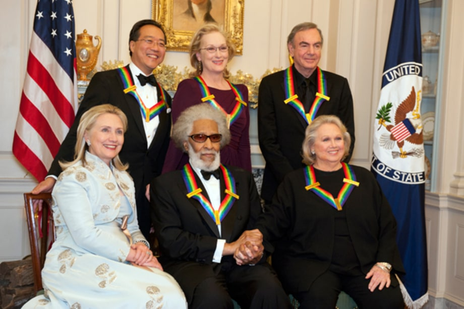 Hillary Clinton Poses With Recipients