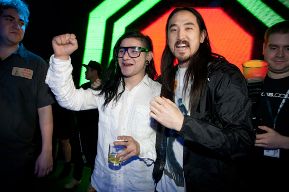 Skrillex and Steve Aoki Meet the Fans
